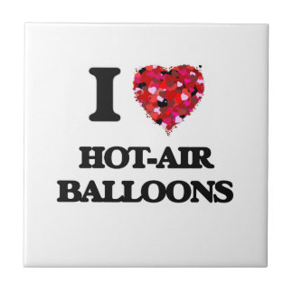 I Love Hot-Air Balloons Small Square Tile