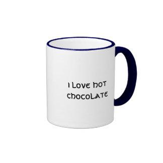 i love hot chocolate ringer mug