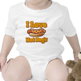 I love Hot Dogs Baby Creeper