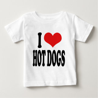 I Love Hot Dogs Baby T-Shirt
