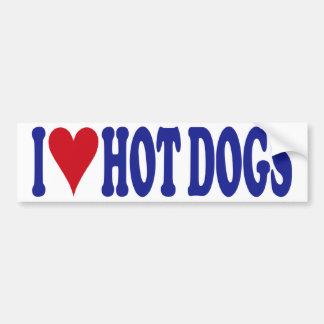 I Love Hot Dogs Bumper Sticker