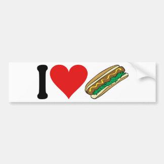 I Love Hot Dogs * Bumper Sticker