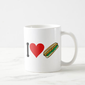 I Love Hot Dogs * Coffee Mug