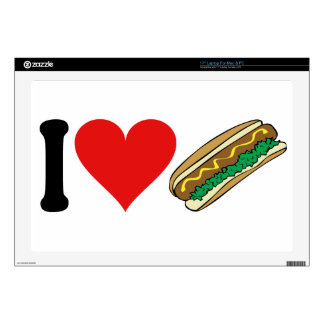 I Love Hot Dogs * Decal For Laptop
