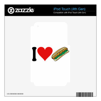 I Love Hot Dogs * iPod Touch 4G Skins