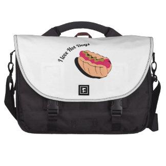 I Love Hot Dogs Laptop Commuter Bag