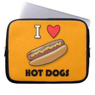 I Love Hot Dogs Laptop Computer Sleeve