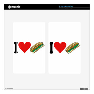 I Love Hot Dogs * Skins For Kindle Fire