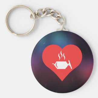 I Love Hot Entrees Cool Icon Basic Round Button Keychain