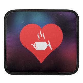 I Love Hot Entrees Cool Icon iPad Sleeves