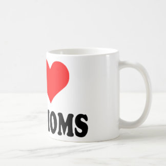 I love hot moms classic white coffee mug