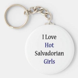 I Love Hot Salvadorian Girls Basic Round Button Keychain