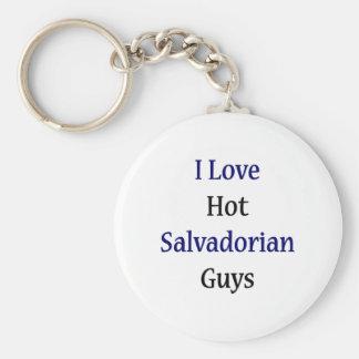 I Love Hot Salvadorian Guys Basic Round Button Keychain
