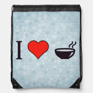 I Love Hot Soup Drawstring Bag