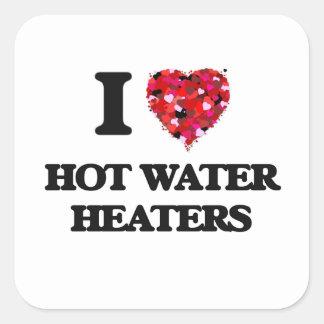 I love Hot Water Heaters Square Sticker