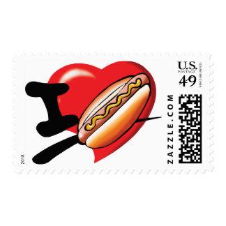 I Love Hotdogs Postage