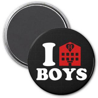 I Love Hotel Boys 3 Inch Round Magnet