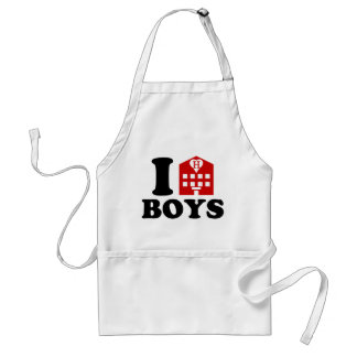 I Love Hotel Boys Adult Apron