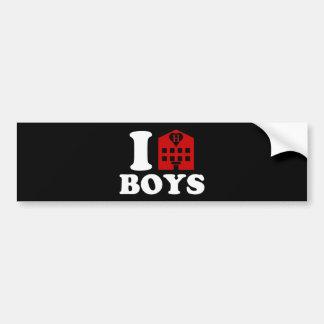 I Love Hotel Boys Bumper Sticker