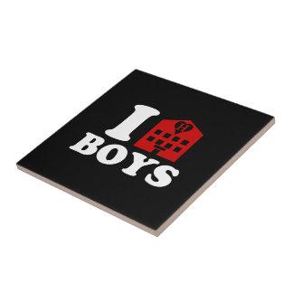 I Love Hotel Boys Ceramic Tile