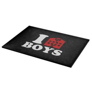 I Love Hotel Boys Cutting Board