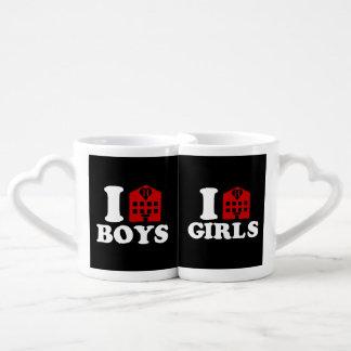 I Love Hotel Boys / Girls Coffee Mug Set