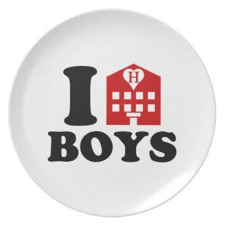 I Love Hotel Boys Melamine Plate