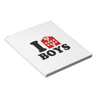 I Love Hotel Boys Notepad
