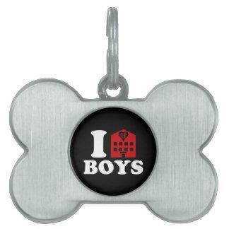 I Love Hotel Boys Pet Tag
