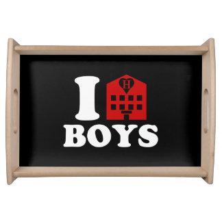I Love Hotel Boys Serving Tray