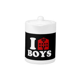I Love Hotel Boys Teapot