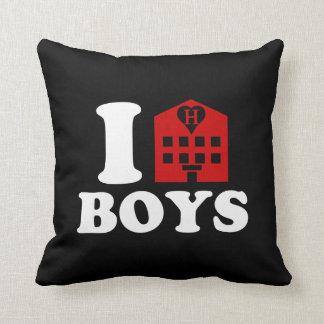 I Love Hotel Boys Throw Pillow
