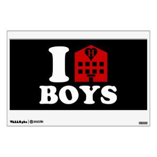 I Love Hotel Boys Wall Sticker