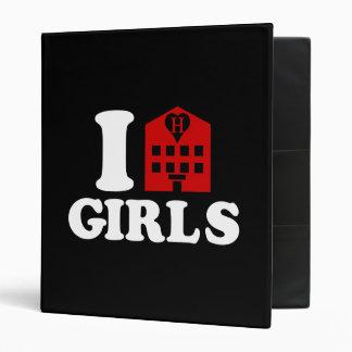I Love Hotel Girls 3 Ring Binder