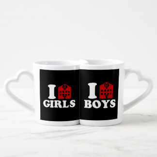 I Love Hotel Girls / Boys Coffee Mug Set