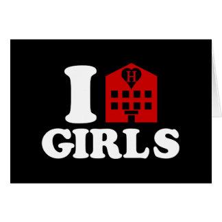 I Love Hotel Girls Card