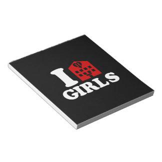 I Love Hotel Girls Notepad