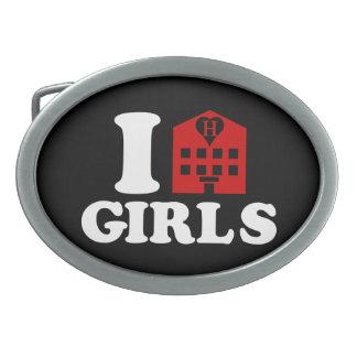 I Love Hotel Girls Oval Belt Buckle