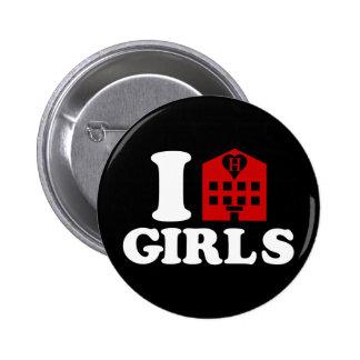 I Love Hotel Girls Pinback Button