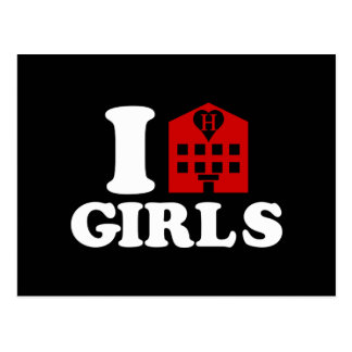 I Love Hotel Girls Postcard