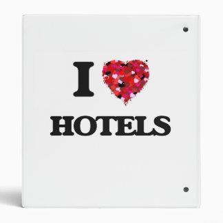 I Love Hotels Vinyl Binder