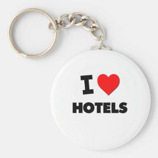 I Love Hotels Keychain