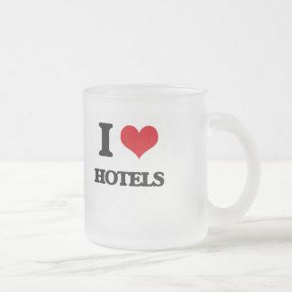 I love Hotels 10 Oz Frosted Glass Coffee Mug