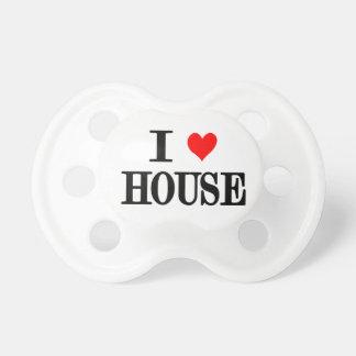 """I Love House"" baby pacifier dj deejay house music"