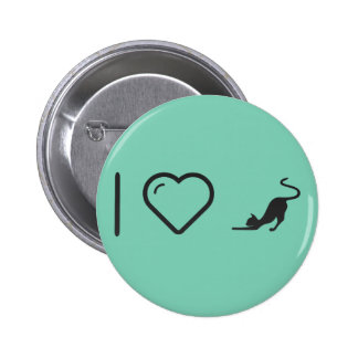 I Love House Cats 2 Inch Round Button