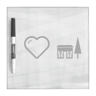 I Love House Dry Erase Whiteboard