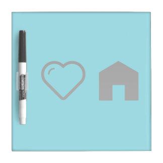 I Love House Dry-Erase Whiteboard