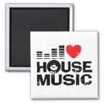 I Love House Music 2 Inch Square Magnet