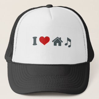I Love House Music Baseball Hat | Ibiza Dancing