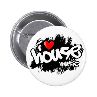 I Love House Music Buttons